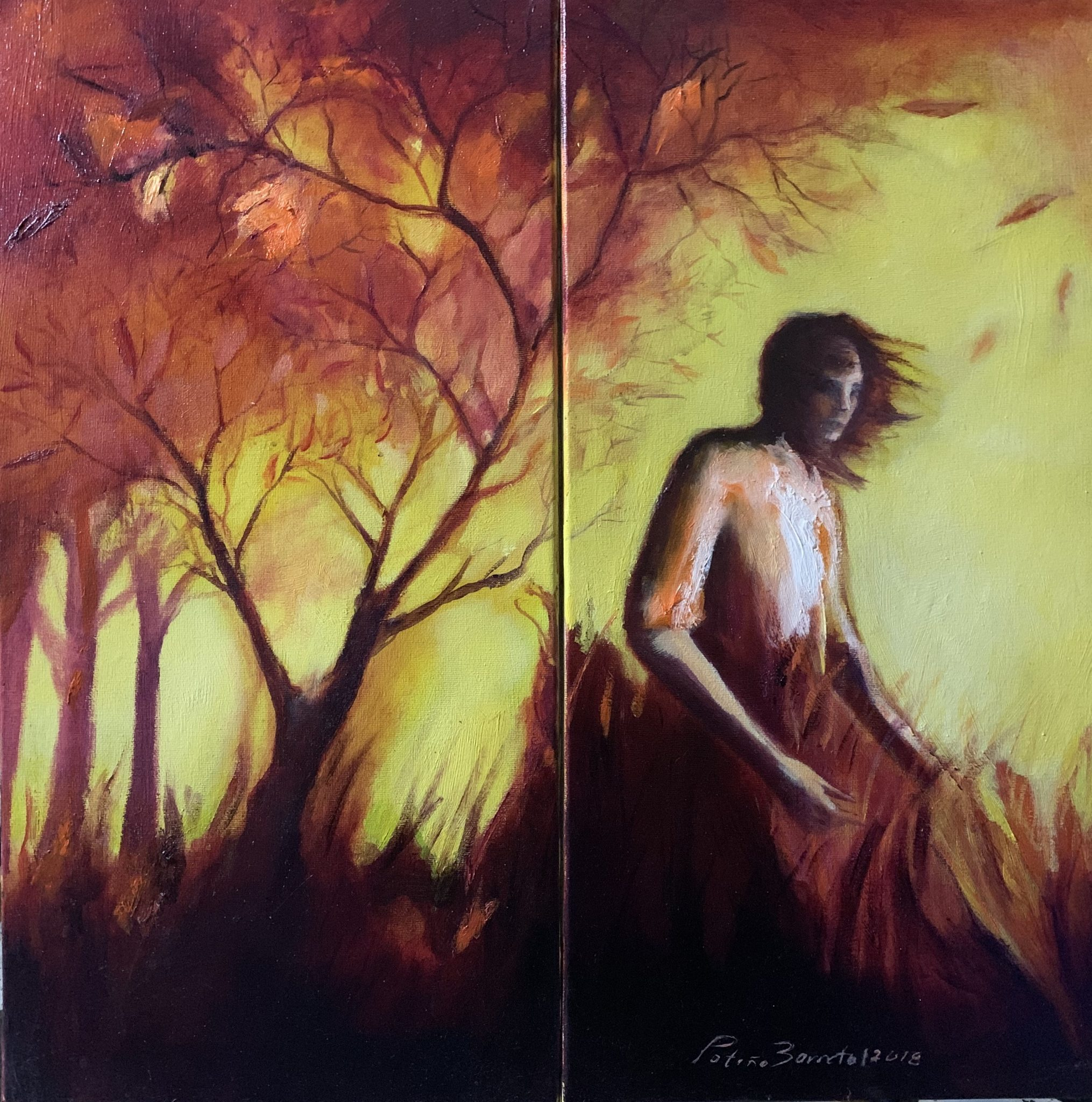 The Woman-Sunset