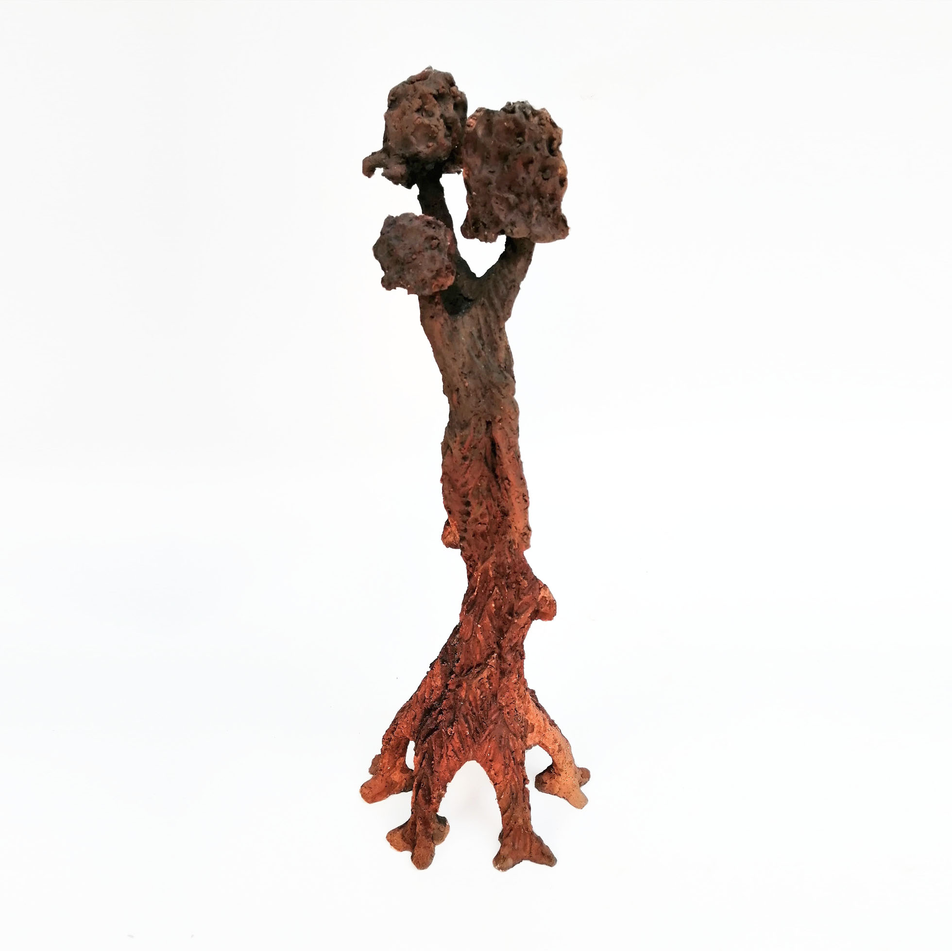 Yucatecan #9 by Gabriel Niquete. Is a metaphor for the entrails of living beings. A novel artistic expression in American art. Modeled in clay with primitive burning finishes.